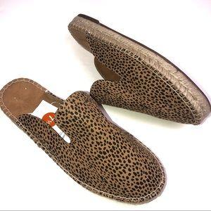 Universal Thread Cheetah Espadrille Mules Slip-On
